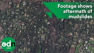 Download Dramatic satellite footage shows aftermath of mudslides Video