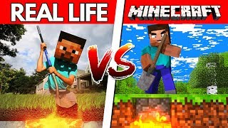 Download Minecraft VS Real Life - DO NOT DIG STRAIGHT DOWN! (Minecraft in Real Life) Video