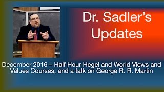 Download Dr. Sadler's Channel Updates - December 2016 Video