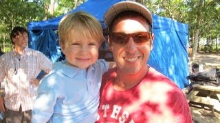 Download 2 Year Old Baseball Kid Christian Haupt and Adam Sandler filming ″That's My Boy″ Video