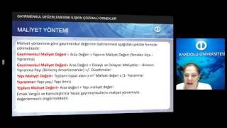 Download EMLAK FİNANS VE EMLAK DEĞERLEME - Ünite6 Özet Video