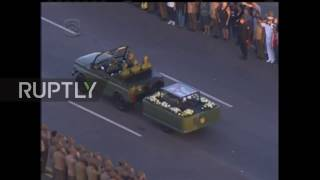Download Cuba: Thousands line streets as Castro's ashes begin journey across country Video