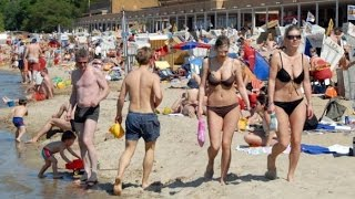 Download Strandbad Wannsee, Berlin, the largest inland lido in Europe Video