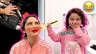 Download ELLE DOES HER MOMMY'S MAKEUP FOR THE DAY!!! (MAKEUP, HAIR AND NAILS) Video