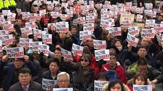 Download Mass protest demands ouster, arrest of South Korea president Video