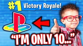 Download BEST 10 YEAR OLD FORTNITE CONSOLE PLAYER CARRIES ME ON PC!! Video