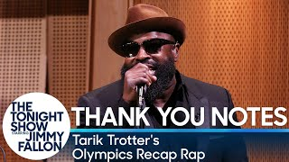 Download Tonight Show Fallon Five: Thank You Notes with Tarik Trotter's Olympics Recap Rap Video