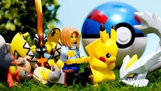 Download 【LEGO遊び】レゴとモンコレでポケモンごっこ キュレム大暴走!全力のZ技でポケモンバトルだ!【アナケナ&カルちゃんのキッズアニメ】Pokemon Video