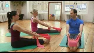 Download Pilates Mat Class using an elastic band with Amit Younger - preview Video