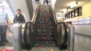 Download Balls on escalator Video