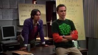 Download The big bang theory 3x04 Raj working with Sheldon Video
