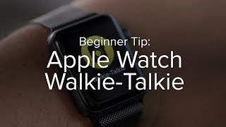 Download How to use Walkie-Talkie on Apple Watch Video