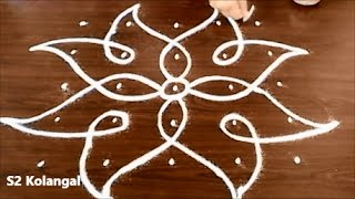 Download sikku kolam with 5X5 dots - easy rangoli designs - melikala muggulu designs with dots Video