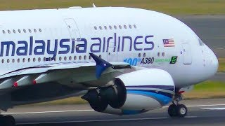 Download 2 INCREDIBLE Malaysia Airlines Airbus A380 Landings & Takeoffs | Sydney Airport Plane Spotting Video