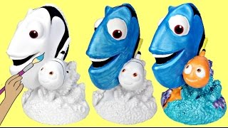 Download Disney FINDING DORY, Nemo Paint Your Own DIY Bank, Color Kids Crafting Activity / TUYC Video