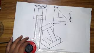 Engineering Drawing Tutorials / Orthographic Drawing with Sectional