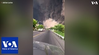 Download Brave Guatemalans drive toward ash cloud to help people after Fuego volcano eruption Video