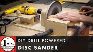 Download DIY Drill Powered Disc Sander Video