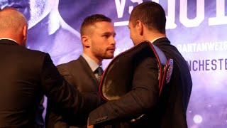 Download CARL FRAMPTON IS PULLED AWAY FROM SCOTT QUIGG AS HEAD TO HEAD GETS VERY HEATED IN BELFAST! Video