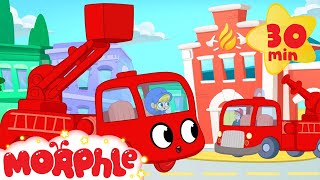 Download Fire Truck Morphle VS the Real Fire Truck - My Magic Pet Morphle Superhero animation episodes Video