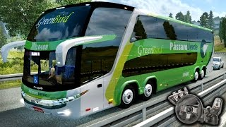 Download Euro Truck Simulator 2 - EAA Bus - Pássaro Verde - Marcopolo G7 1800 DD 8x2 - Com Logitech G27 Video