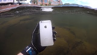 Download Found iPhone, Knife and Jewelry Underwater in River! (Scuba Diving) Video