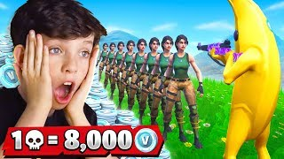 Download 1 Elimination = 8,000 *free* VBucks With My Little Brother (Fortnite Battle Royale) Video