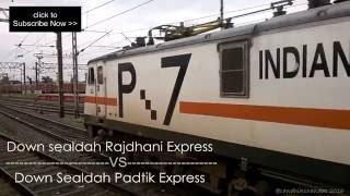 Download Sealdah Rajdhani & NJP padatik express leaves Burdwan & starts parallel action Video