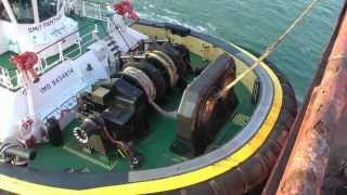 Download Berge Bureya, SMIT tugboats and KRVE boatmen at the Port of Rotterdam. Video
