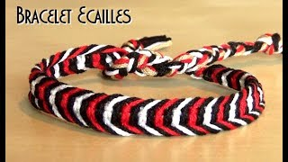 Download [TUTO] Bracelet Macramé Facile avec nœud plat / Motif écailles Video