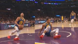 Download Stephen Curry Embarrasses Himself After Slipping On Dunk Fail Then Airballs! Warriors vs Lakers Video