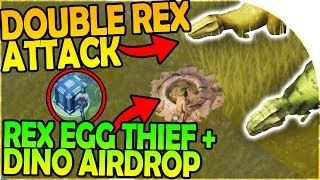Download DOUBLE REX ATTACK - REX NEST EGG STEALING + DINO AIRDROP - Jurassic Survival Gameplay Video