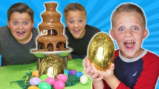 Download Giant Chocolate Fountain Fondue Challenge Surprise Hidden Egg Video