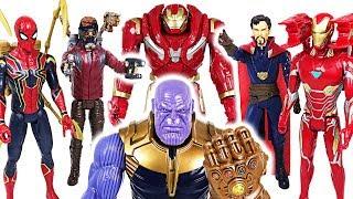 Download Thanos has grown bigger! Marvel Avengers Infinity War Spider Man, Iron Man, Hulk! - DuDuPopTOY Video