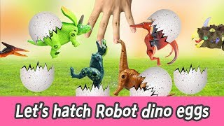 Download [EN] Let's hatch Robot dino eggs!! cocos animation, dinosaurs names for kids, collectaㅣCoCosToy Video