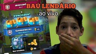 Download GANHANDO O BAÚ LENDÁRIO AO VIVO + BATALHA ÉPICA - CLASH ROYALE Video
