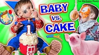 Download BABY vs CAKE! Shawn's 1st Birthday Party! Family Games & Activities w/ FUNnel Vision + Presents Haul Video