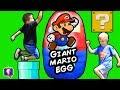 Download Worlds BIGGEST SUPER MARIO Surprise Egg! Amiibo + Kinder Chocolate HobbyKidsTV Video