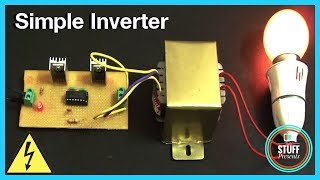 Download IC based Simple 12V to 240V Inverter using MOSFET & IC 4047 | Homemade Video