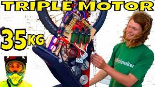 Download 42,000w 56hp Electric Bike Triple Motor (video#4) 35.2kg 77.6lbs total weight + thermal camera Video