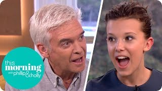 Download Phillip Makes 'Stranger Things' Star Millie Bobby Brown Swear! | This Morning Video
