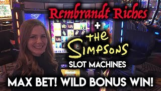 Download AWESOME BONUS! So many WILDS! Simpsons Slot Machine!!! Video