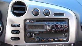 Download DIY: How to install aftermarket stereo for Toyota Matrix 2003 & 2004 Video