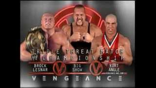 Download WWE PPV Vengeance 2003 - Brock Lesnar vs Big Show vs Kurt Angle Promo Video