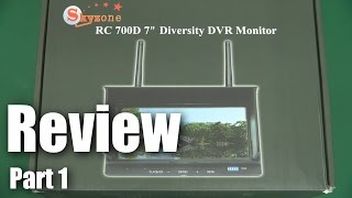 Download Review: Skyzone RC 700D Diversity DVR LCD monitor (part 1) Video