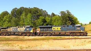 Download CSX rolling south in Manchester, Ga. Video