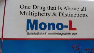 Download Mono - L tablet ( पुरानी से पुरानी नज़ला / सर्दी को ठीक करे तुरन्त ) Use , Doages Full Hindi Reviews Video