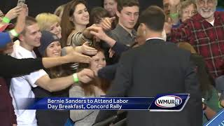 Download Sanders returning to NH on Labor Day Video