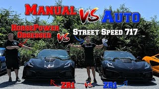 Download Manual VS Automatic in a C7 ZR1. Street Speed 717 and I show you WHY the AUTO is FASTER!! Video