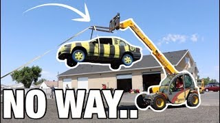 Download CAR DROPPED FROM 20 FEET! WILL IT STILL WORK? Video
